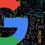 Image of Google's letter G and mathematical terms