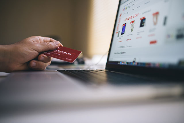 image of someone shopping online